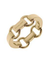 Michael Kors | Metallic Goldtone Link Bracelet | Lyst