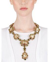 Oscar de la Renta | Metallic Chandelier Crystal Necklace | Lyst