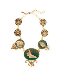Oscar de la Renta | Green Toile Necklace | Lyst