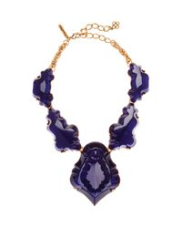Oscar de la Renta | Purple Resin Chandelier Necklace | Lyst