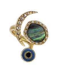 RACHEL Rachel Roy | Multicolor Rachel Rachel Roy Ring Abalone Evil Eye | Lyst