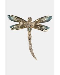 Alexis Bittar | Blue Lucite Neo Bohemian Pavé Dragonfly Pin | Lyst