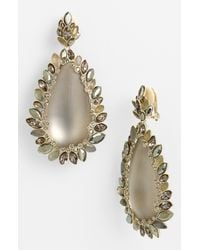 Alexis Bittar | Gray Lucite Neo Bohemian Large Drop Clip Earrings | Lyst