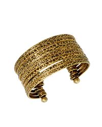 BCBGeneration - Metallic Textured Open Cuff Bracelet - Lyst