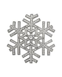 Carolee | Metallic Silvertone Snowflake Pin | Lyst