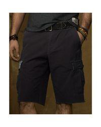 Denim & Supply Ralph Lauren Black Cut Off Military Ripstop Shorts for men