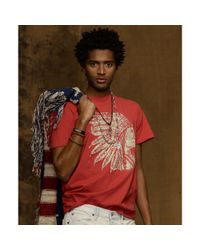 Denim & Supply Ralph Lauren Red Chief Crew Neck Tshirt for men