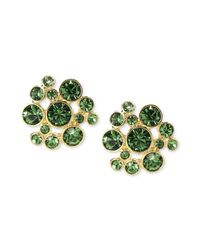 Givenchy - Green 10k Goldplated Erinite Swarovski Element Bubble Earrings - Lyst