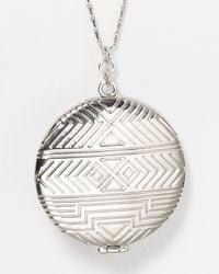 "House of Harlow 1960 - Metallic 1960 Medallion Locket Necklace, 28"" - Lyst"