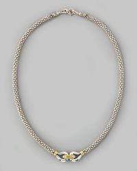 Lagos | Metallic Derby Caviar Mixed-Metal Necklace for Men | Lyst