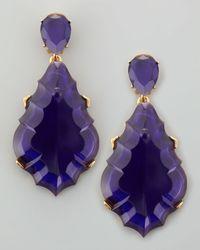 Oscar de la Renta - Resin Chandelier Clipon Earrings Dark Purple - Lyst