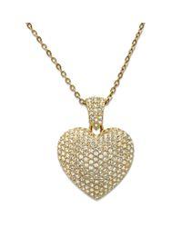 Swarovski | Metallic Puffed Heart Pendant | Lyst