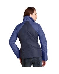 Tommy Hilfiger - Blue Standcollar Fitted Puffer - Lyst