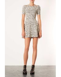 TOPSHOP - Natural Rose Jaquard Tunic - Lyst