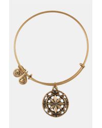 ALEX AND ANI | Metallic 'compass' Expandable Wire Bangle | Lyst