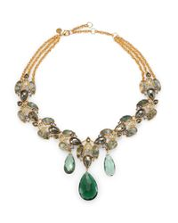 Alexis Bittar - Green Semiprecious Multistone Collar Necklace - Lyst