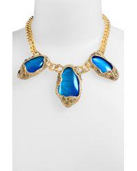 Alexis Bittar | Metallic Elements Jardin De Papillon Statement Necklace | Lyst
