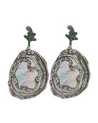 Arunashi - Metallic Abalone Shell Earrings - Lyst