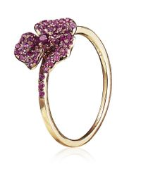 AS29 | Pink Mini Pave Flower Ring | Lyst