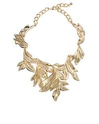ASOS | Metallic Statement Leaf Collar Necklace | Lyst