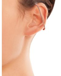 Elise Dray   Diamond & Pink Gold Single Maxi-Bar Earring   Lyst