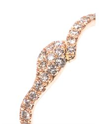 Elise Dray - Diamond Pink Gold Snake Thumb Ring - Lyst