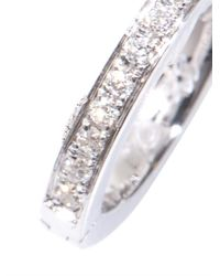 Elise Dray - Diamond White Gold Single Hoop Earring - Lyst
