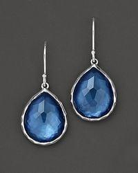 Ippolita - Blue Sterling Silver Wonderland Teardrop Earrings In Indigo - Lyst