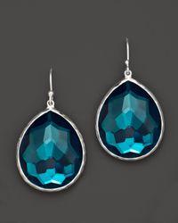 Ippolita - Blue Sterling Silver Wonderland Teardrop Earrings In Peacock - Lyst