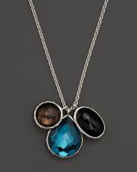 Ippolita - Metallic Sterling Silver Wonderland 3stone Charm Necklace in Zeppoli 16 - Lyst