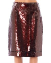 Marc Jacobs - Purple Sequinned Pencil Skirt - Lyst