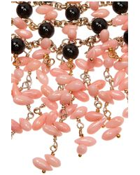Rosantica - Pink Papavero Golddipped Onyx and Agate Necklace - Lyst