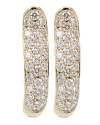 Tamara Comolli | Yellow Pave Diamond Hoop Earrings | Lyst
