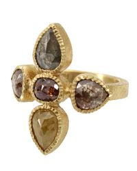 Todd Reed | Metallic Five Stone Cluster Ring | Lyst