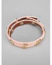 Tory Burch - Pink Studded Bracelet - Lyst