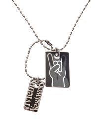 Vivienne Westwood - Gray Pete Army Tags Necklace - Lyst