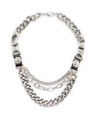 Mango | Metallic Punk Style Chain Necklace | Lyst
