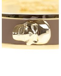 Alexander McQueen - Metallic Brass Skull Bracelet - Lyst