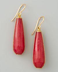Devon Leigh | Red Jade Teardrop Earrings | Lyst