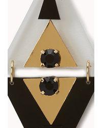 Forever 21 - Metallic Mod Triangle Drop Earrings - Lyst