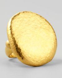 Gurhan | Metallic Pebble 24K Gold Large Ring | Lyst