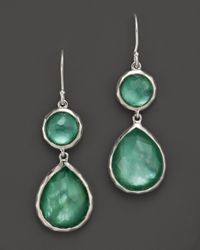 Ippolita | Green Sterling Silver Wonderland Mini Teardrop Snowman Earrings In Mint | Lyst
