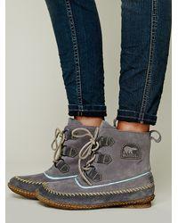 Sorel Joplin Stitch Boot In Gray Lyst