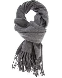 Acne Studios | Gray Tasselled Wool-blend Scarf for Men | Lyst