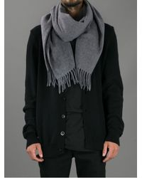 Acne | Gray Tasselled Wool-blend Scarf for Men | Lyst