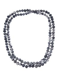 Dosa - Blue Knotted Bead Necklace - Lyst