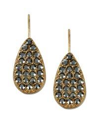 Kenneth Cole | Metallic Goldtone Glass Crystal Teardrop Earrings | Lyst