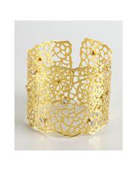 Amrapali | Metallic Gold and Sliced Diamond Lattice Cuff | Lyst