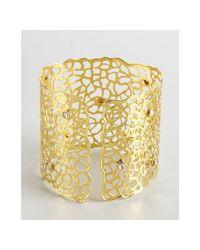 Amrapali - Metallic Gold and Sliced Diamond Lattice Cuff - Lyst