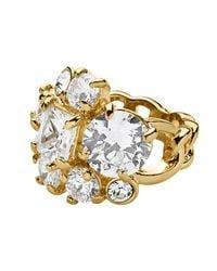 Dyrberg/Kern | Metallic Tairie Shiny Gold Crystal Ring | Lyst